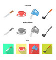 design of kitchen and cook sign set of vector image vector image