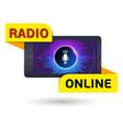 design sticker online radio sign vector image