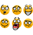 emoticon or emotions set cartoon vector image vector image