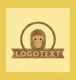 flat shading style icon monkey logo vector image vector image