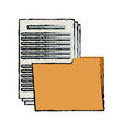 folder file document paper office supply vector image