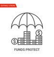 funds protect icon thin line vector image vector image