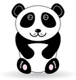 Funny panda on a white background vector image vector image