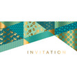 geometric xmas patchwork pattern for header vector image