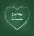 grunge countour heart be my valentine card vector image