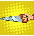 Hand saw tool vector image vector image