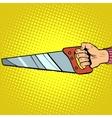 Hand saw tool vector image