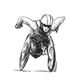 Hand sketch athletes in wheelchair vector image vector image
