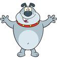 Happy cartoon dog vector image vector image