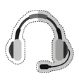 headset device isolated icon vector image vector image