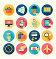 icons round buy vector image vector image