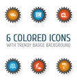 industry icons set collection of measure tool vector image vector image