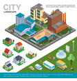 isometric city landscape concept vector image vector image