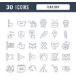 line icons flag day vector image