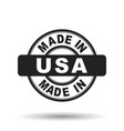made in usa america black stamp on white vector image vector image
