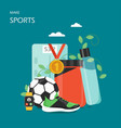 make sports flat style design vector image