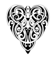 Maori style heart shape vector image vector image