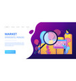 marketing research concept landing page vector image vector image