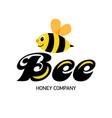 merry bee logo for honey producer company happy