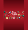 Merry christmas and happy new year design template