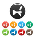 metal tap icons set color vector image vector image