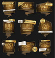 modern luxury sale banners and labels modern vector image vector image