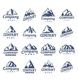 Mountain symbol set vector image vector image
