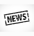 news rubber stamp vector image vector image