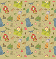 pattern with little red riding hood fairy tale vector image vector image