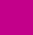 Pink offset squares embossed tile ornament vector image vector image