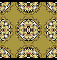 seamless pattern vintage decorative elements hand vector image