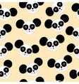 seamless texture black and white panda logo vector image vector image