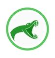 snake logo template viper head symbol vector image