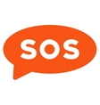 Sos Message Balloon Flat Icon