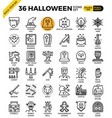 spooky halloween icon vector image