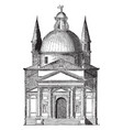 st saviours venice one cause served to render the vector image vector image