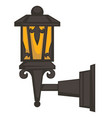 street lantern or lamp isolated exterior object vector image vector image