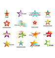 stylized stars colorful rating symbols business vector image