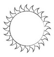 summer sun weather icon vector image vector image