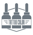 tattoo color logo simple gray style vector image