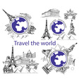 Travel around world and sights vector image