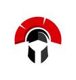 warrior helmet logo design knight mask icon vector image