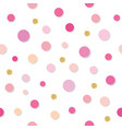 confetti polka dot seamless pattern background vector image