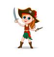 cute girl pirate vector image