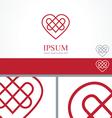 Celtic Heart element concept design template vector image