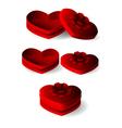 emtly heart shape box with ribbon vector image