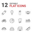 12 recreation icons vector image vector image