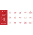 15 statistic icons vector image vector image