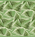abstract dotted green fern leaves seamless pattern vector image