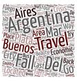 Argentina Travel Buenos Aires Mar del Plata Iguazu vector image